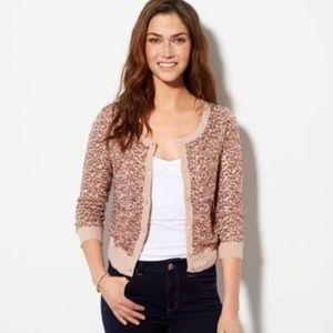NWT American Eagle Rose Gold Sequin Cardigan